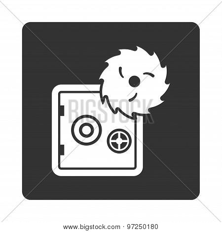 Hacking theft icon