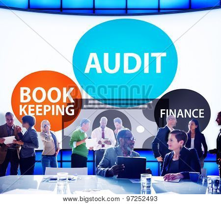 Audit Bookkeeping Finance Money Report Concept poster