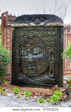 Buddhist temple water fountain