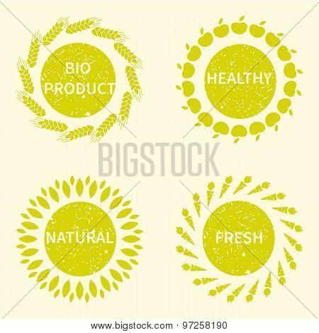 Organic, bio, natural logotype design template.