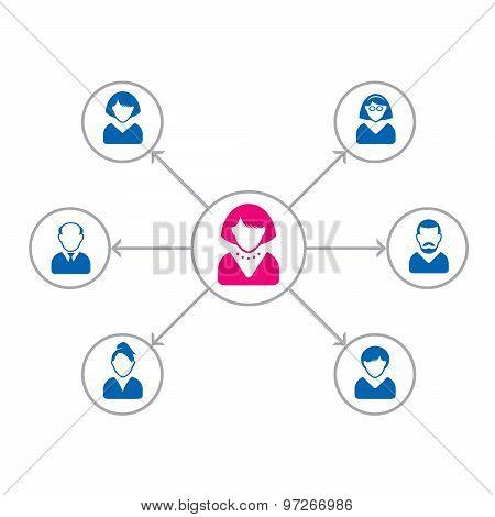 Set Of People Icons. Corporation Team. Vector Avatar Illustration