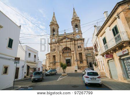 Santi Medici Church In Alberobello, Puglia, Italy