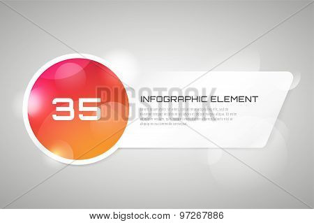 Vector banner infographic template. Processes presentation and information design, web structure, cr