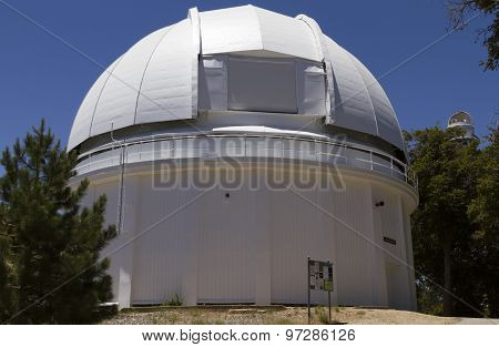 60-inch white telescope dome in Mount Wilson Observatory poster