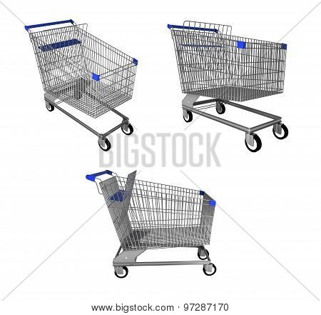 Shopping trolley collage