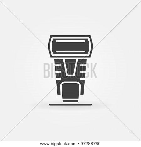 Photo camera flash icon