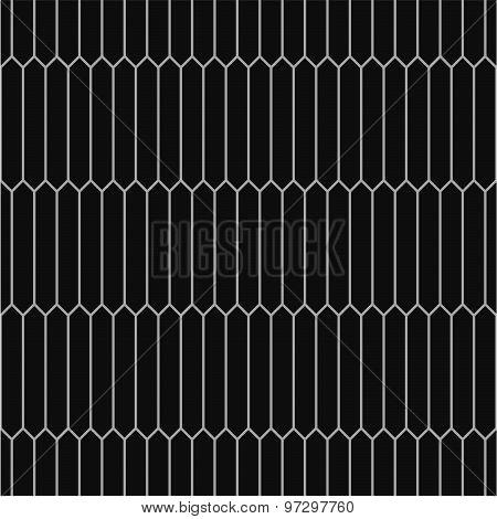 Seamless monochrome pattern of picket tiles