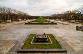 Berlin Germany - November 6 2010: Soviet War Memorial commemorate the Battle of Berlin in 1945 where 80000 soldiers died. It opened at 1949 in Treptower Park Berlin Germany. poster