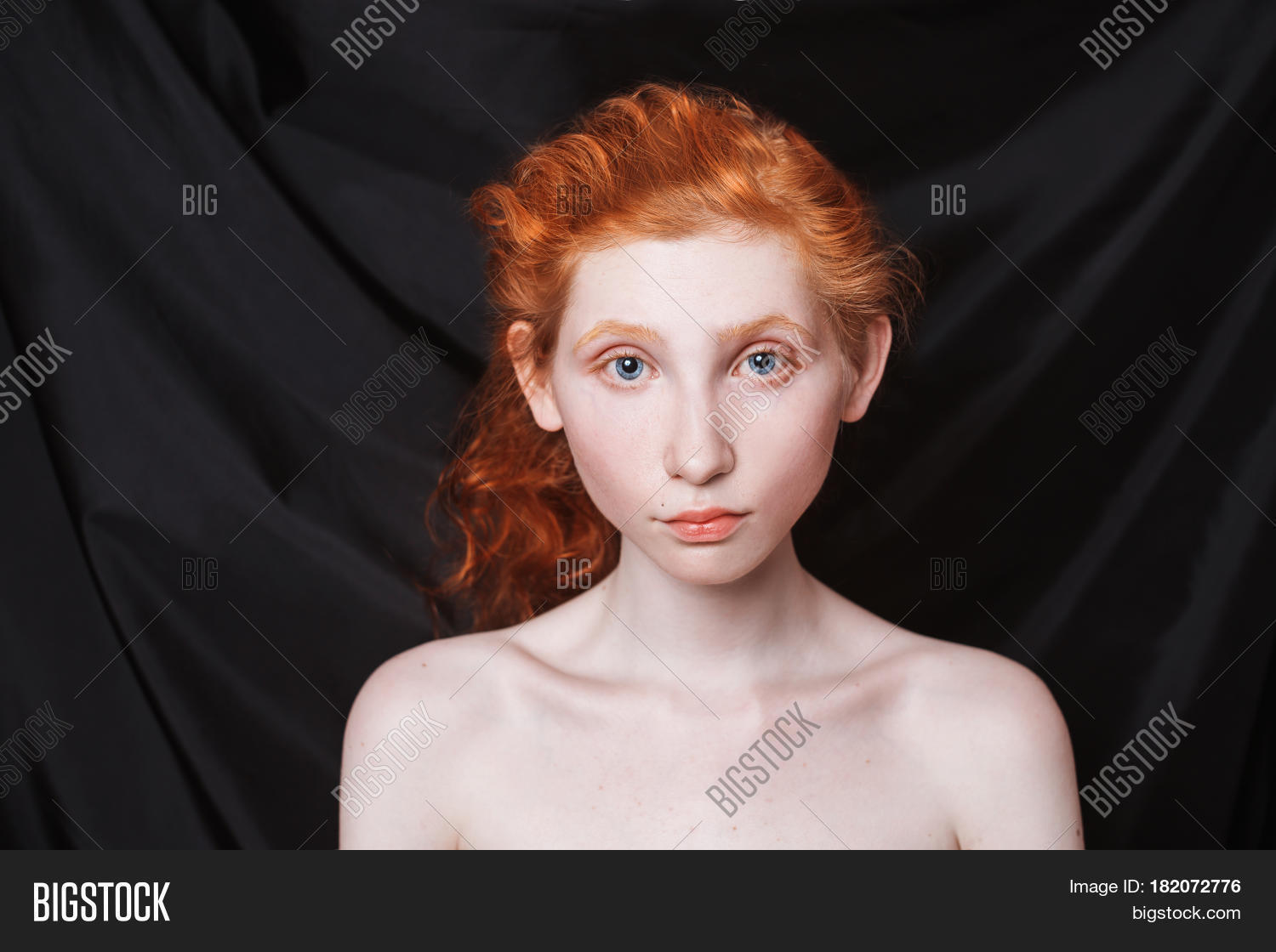 Woman Long Curly Red Image Photo Free Trial Bigstock