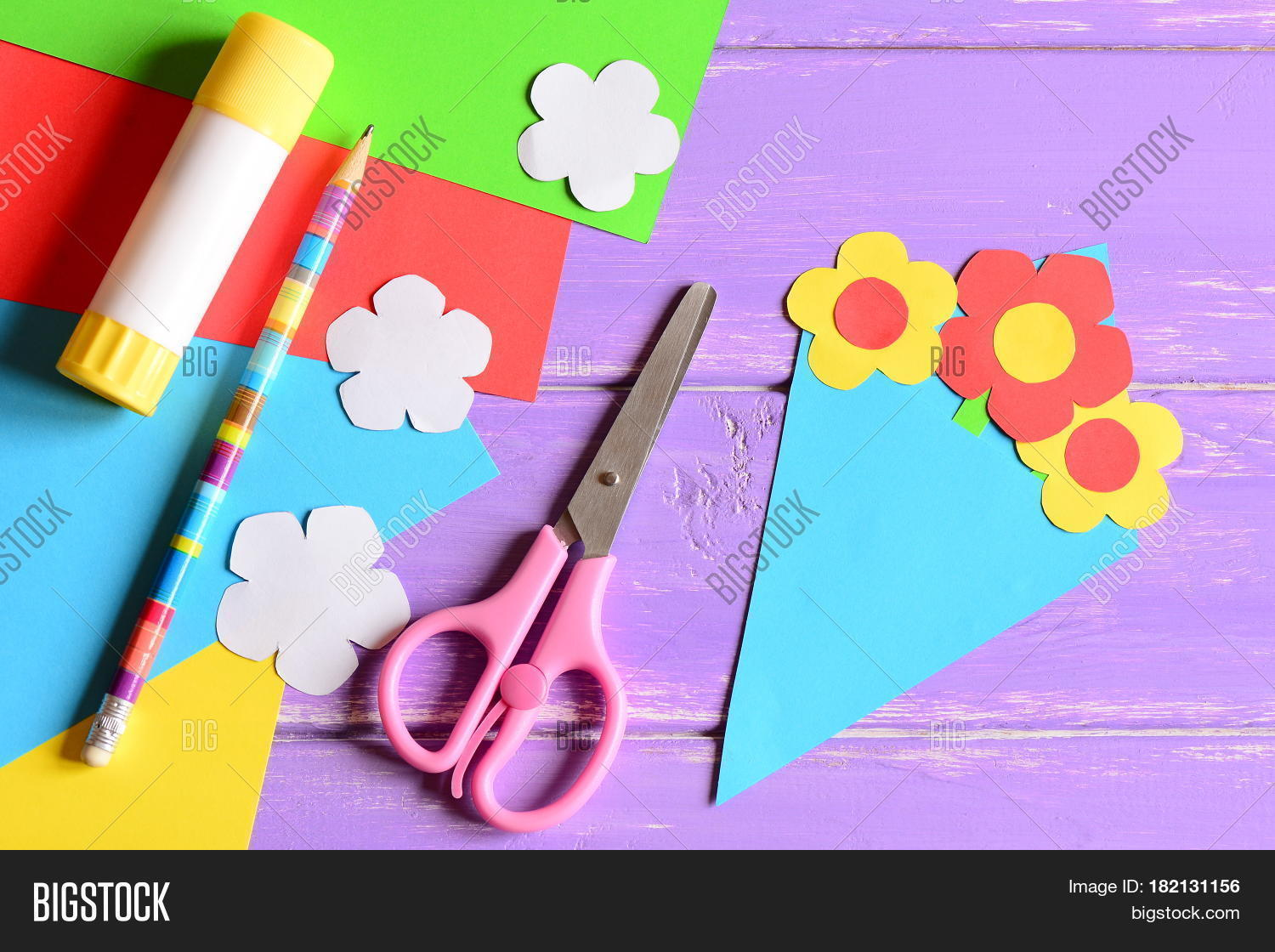 Creating Paper Crafts Image Photo Free Trial Bigstock