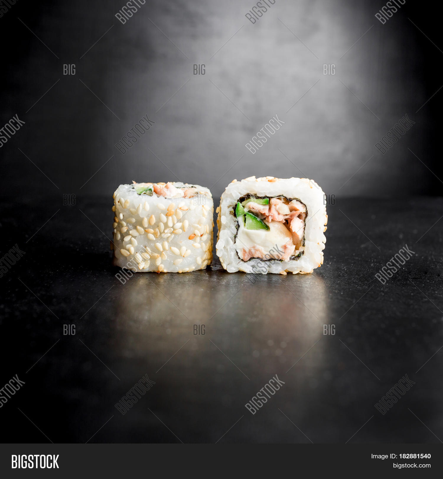 Sushi Rolls Isolated Image Photo Free Trial Bigstock
