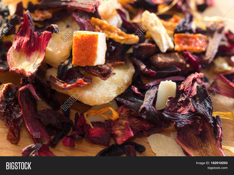 Pile Fruit Tea Petals Dry Fruit Image Photo Bigstock