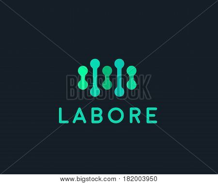 Abstract bio dna logo design template. Medicine, science, tech, lab vector logotype