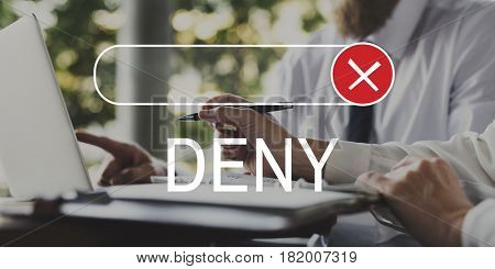 Banned Declined Reject Deny Graphic