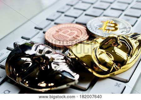 Bitcoins On The Keyboard