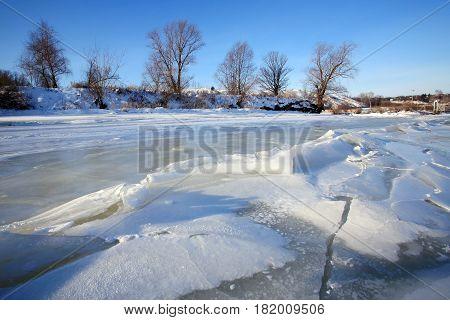 Backwater In Winter