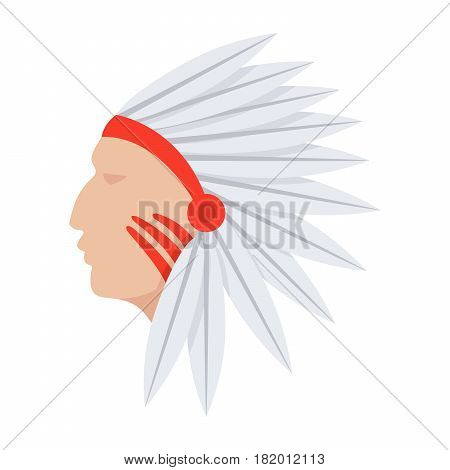 Cultural anthropology concept with native american indian, vector illustration in flat style
