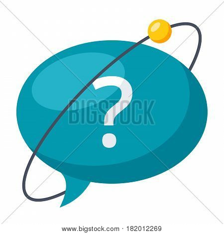 Hypothesis concept with speech bubble and question sign, vector illustration in flat style