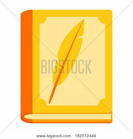 Literary science concept with book, vector illustration in flat style