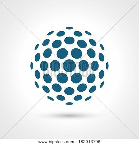 Abstract circular shape. Round elements. Contains transparent objects.