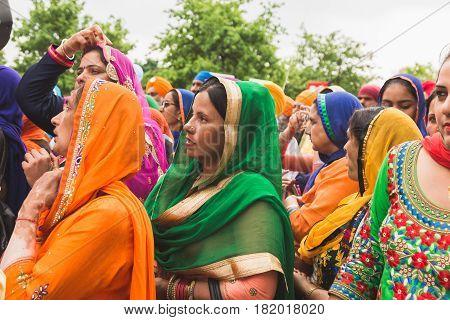 Sikhs Taking Part In The Vaisakhi Parade