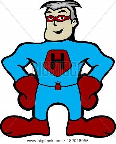 illustration man super hero boxer cartoon animation