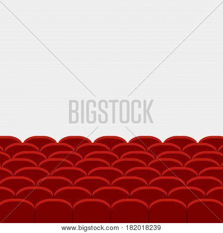 Rows of red cinema and theater vector illustration