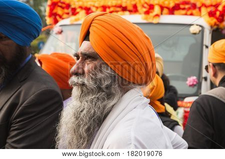 Sikh Man Taking Part In The Vaisakhi Parade