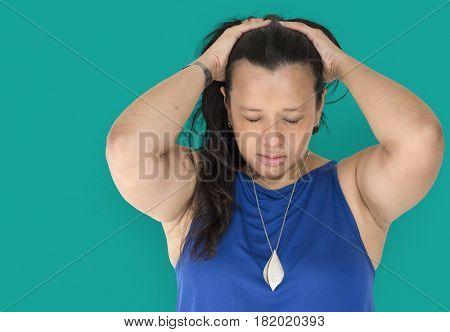 Woman solo model studio portrait