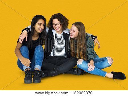 Diversity Friends Together Studio Portrait