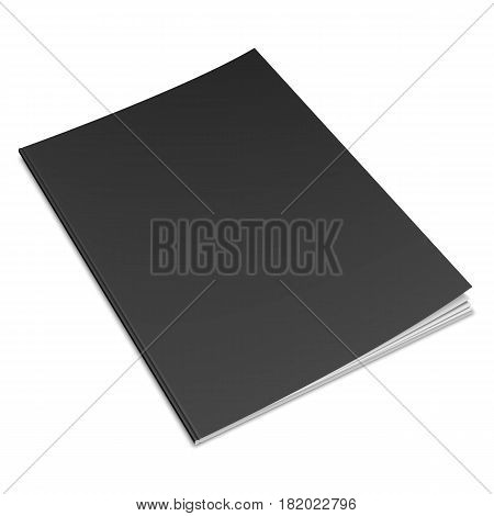 Book with empty blank cover isolated on white background. Object mock-up or template
