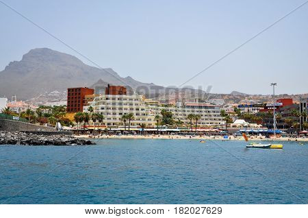 TENERIFE, SPAIN - JULY 1, 2011: Tenerife coast. The view from the ocean side.