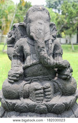 Prambanan, Indonesia - 2 February 2013: Ganesh statue of Prambanan temple compound in Java on Indonesia, Unesco world heritage