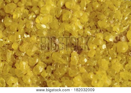 Sulphur Mineral Texture