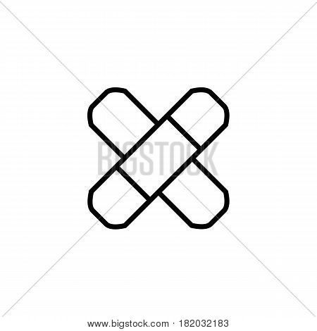 Adhesive plaster line icon, outline vector logo illustration, linear pictogram isolated on white. Eps 10
