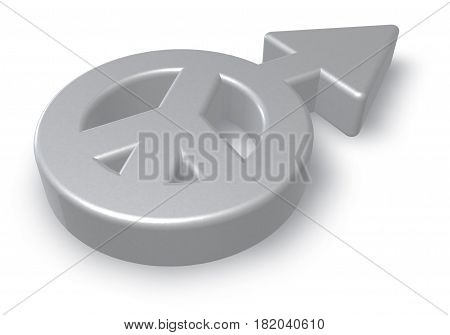 male gender and peace symbol mix - 3d rendering