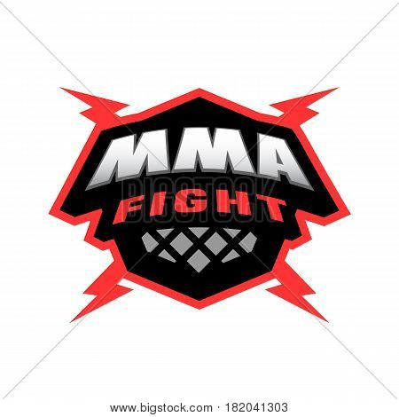 MMA fight. Mixed martial arts logo. Vector illustration.