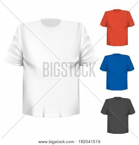 Blank t-shirt any color over white background. Vector