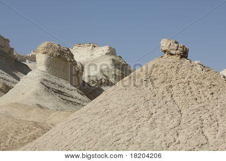 Sodom limestone cliffs in Israel