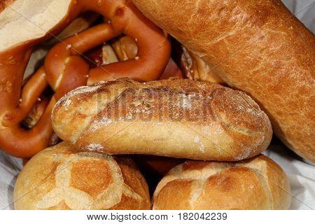 German Pretzel called Brezel and other german Bread