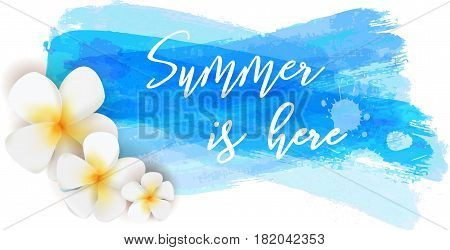 Summer Is Here Watercolor Brushed Background