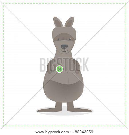 Kangaroo animal prairie toy cartoon vector isolated