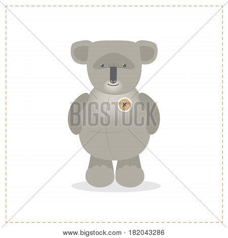 Koala animal exotic toy cartoon vector, isolated on a white background