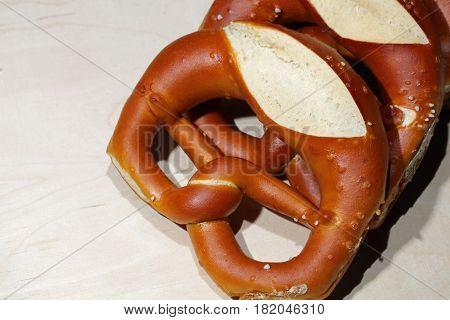German Pretzel called Brezel, wonderful german Bread