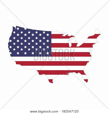 Map of United State of America vector design isolated on white background