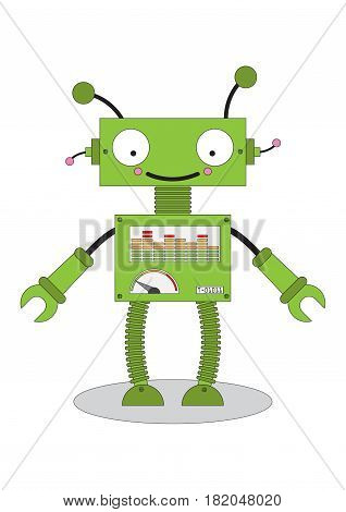 android toy robot cartoon vetor isoalted icon