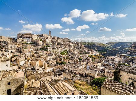 Ancient Town Of Matera (sassi Di Matera) In Beautiful Morning Light, Basilicata, Southern Italy