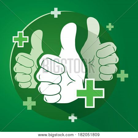 Adding Likes With Thumbs Up Vector Illustration