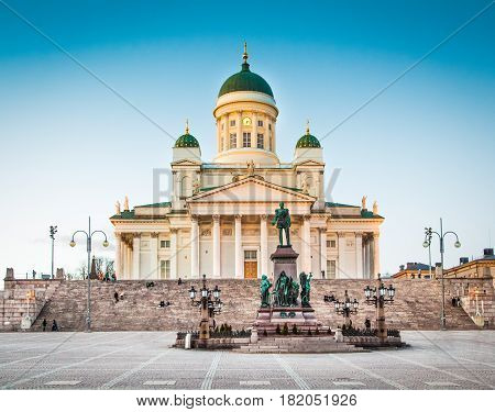 Famous Helsinki Cathedral In Evening Light, Helsinki, Finland