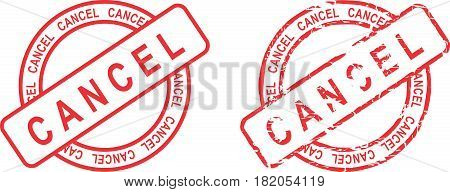 circle cancel sticker stamp set in vector format